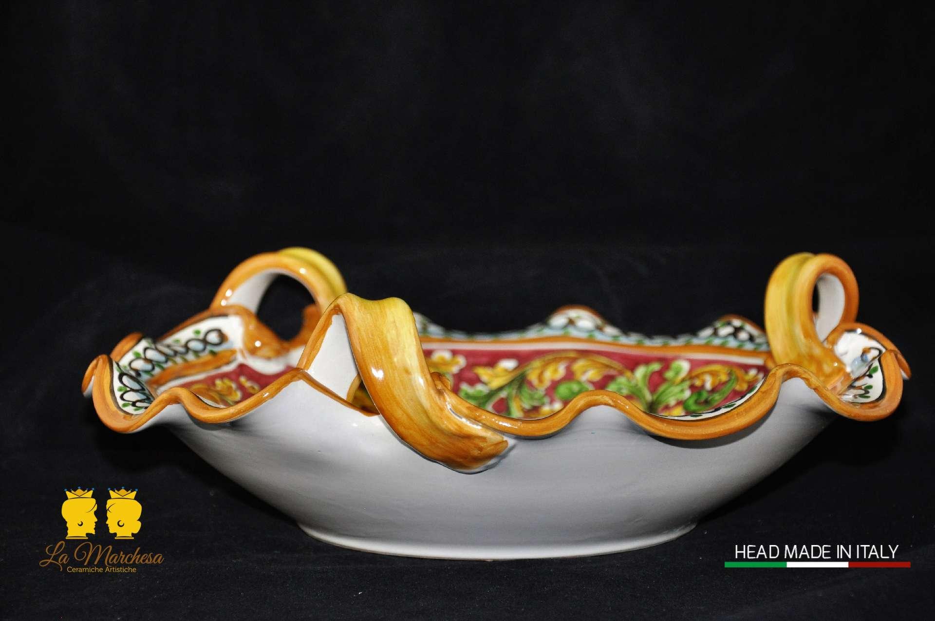 Raffinato centro tavola frutta la marchesa ceramiche artistiche - Centro tavola con frutta ...
